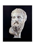 Head of Heracles  2nd c AD Ancient Roman statue Palazzo Massimo  Rome  Italy
