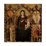 Madonna with Child  with Saints and Crucifixion