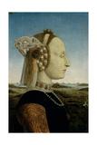 Duke and Duchess of Urbino and Triumphs  Piero della Francesca  1465-1472 Uffizi Gallery