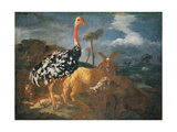 Gazelle  Lady  Ostrich  Ram and Wild Boar  by Master of Palazzo Lonati Verri  17th c Milan  Italy