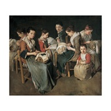 Women making Lace (The Sewing School)  1720-1730 Private Collection  Brescia  Italy