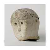 Head with raggiera from Monte Saraceno  3500 - 2300 BC Archaeological Museum  Taranto  Italy