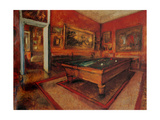 Billiard Room  by Edgar Degas  ca1892 Musee d'Orsay  Paris  France