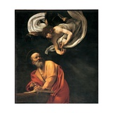 St Matthew and the Angel  by Caravaggio  1602 San Luigi dei Francesi Church  Rome  Italy Detail
