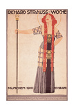 Art Nouveau Poster for Richard Strauss Woche Munchen