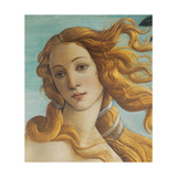 Birth of Venus  Head of Venus  by Botticelli  1484-1485 Uffizi Gallery  Florence Detail