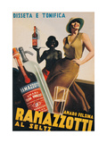 Advertising poster for Amaro Felsina Ramazzotti Water  by Gino Boccasile  1936 Private collection