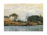 Boats at the Lock at Bougival
