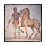 Auriga of the Circus  3rd c AD Ancient Roman mosaic Palazzo Massimo  Rome  Italy