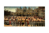 Procession in St Mark's Square  by Gentile Bellini  1496-1500 Accademia  Venice  Italy