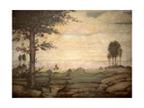 Landscape  Bernardino Luini  16th c San Maurizio al Monastero Maggiore Church  Milan  Italy