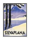 Advertising poster Silvaplana  Switzerland