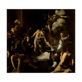 Martyrdom of St Matthew  by Caravaggio  1599-1600 San Luigi dei Francesi Church  Rome