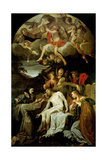 Deposition with Virgin and Sts Clare  Francis  Mary Magdalene & John