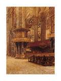 Inside View of the Cathedral of Milan  by Filippo Carcano  c 1890-1899 Italy
