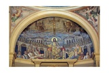 Christ Enthroned With the Apostles  4th c mosaic  Santa Prassede Basilica  Rome  Italy