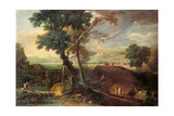 Landscape with a Torrent and Monks