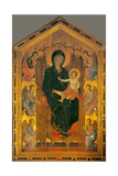 Madonna Ruccellai (Madonna Enthroned with Child and Six Angels) by Duccio di Buoninsegna  c 1285