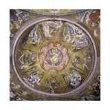 Cupola of St Mark's Basilica  13th c Mosaics of the Interior Dome Venice  Italy