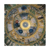 Cupola of the Creation or Genesis  13th c Mosaics of St Mark's Basilica  Venice  Italy