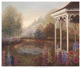 Gazebo with Foxgloves