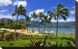 St Regis Princeville Resort Hotel with View of the Bay at Hanalei Beach  Island of Kauai
