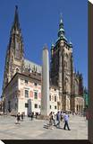 St Vitus Cathedral with Hradcany in Prague  Central Bohemia  Czech Republic