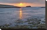 Sunset at the beach near S'Archittu  Province of Oristano  Sardinia  Italy