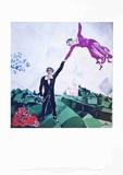 La promenade Reproduction d'art par Marc Chagall