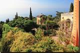 View from Villa Hanbury at Hanbury Botanic Gardens near Ventimiglia  Liguria  Italy