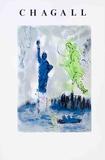 Statue de la Liberté Reproduction pour collectionneurs par Marc Chagall
