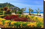 Seafront Promenade with View of Monte Igueldo Mountain in Donostia-San Sebastian on Costa Vasca