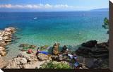 Rocks on the Beach of Moscenicka Draga near Opatija  Istria  Croatia