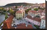 View across the Franz Kafka Museum towards Prague Lesser Town with Pertrin Hill  Czech Republic