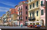 Row of Houses on the Seafront Promenade in the Urban District of Oneglia in Imperia