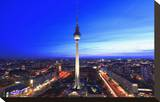 Television Tower on Alexanderplatz Square at Dusk  Berlin  Germany