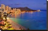 View across Waikiki Beach towards Diamond Head  Honolulu  Island of Oahu  Hawaii  USA