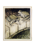 The Frogs and the Well  Illustration from 'Aesop's Fables'  Published 1912