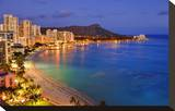 View across Waikiki Beach towards Diamond Head  Honolulu  Island of Oahu  Hawaii  USA