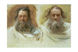 Study of Two Heads: The Prophets  c1892