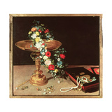 Still Life with a Wreath of Flowers  1618