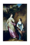 The Hon Lady Stanhope and the Countess of Effingham as Diana and Her Companion  1765