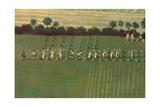 Country Round Dixton Manor  c1725 (Detail)