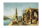 Capriccio with a Gothic Building and an Obelisk