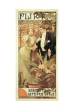 Poster Advertising 'Flirt' Biscuits by 'Lefevre-Utile'  1899