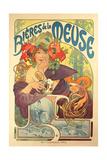 Poster Advertising 'Bieres De La Meuse', 1897 Giclée par Alphonse Mucha