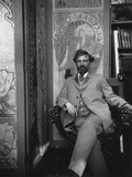 Alphonse Mucha (1860-1939) in His Studio  c1898