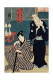 Two Actors as Izutu Budayu and Izutsu Matsurinosuke  1857