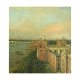 View of the Thames and Westminster Bridge  Detail of Lambeth Palace  c1746/7