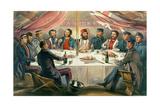 A Christmas Dinner on the Heights before Sebastopol  Engraved by JA Vinter  Pub 1855